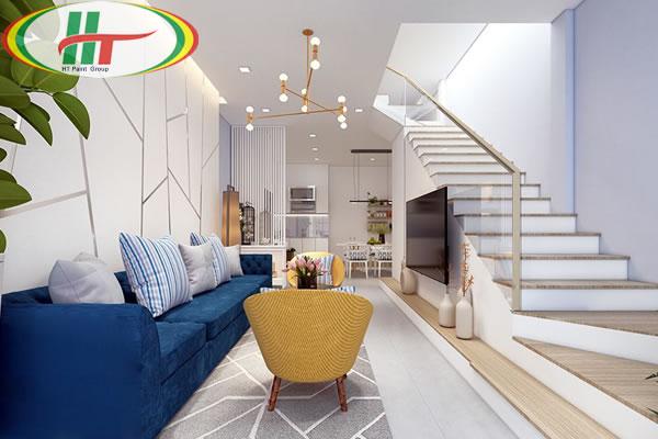 Gợi ý chọn màu sắc và thiết kế nội thất cho phòng khách nhỏ hẹp