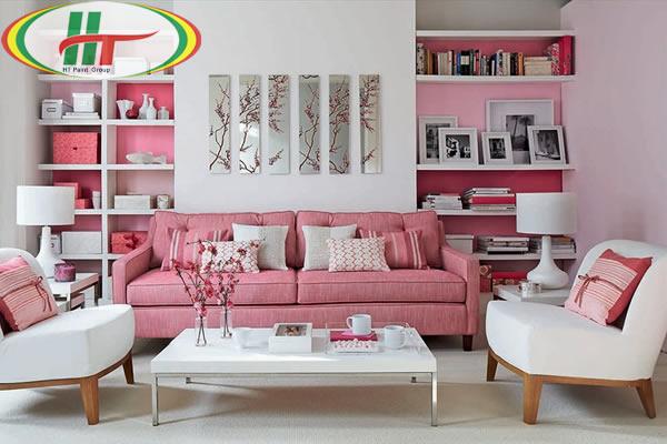 Cách sử dụng màu hồng trong thiết kế nội thất nhà ở
