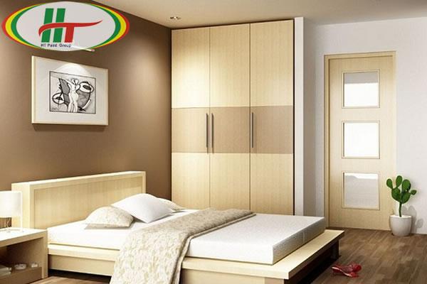 Màu sơn nội thất phòng ngủ đẹp cho người mệnh Thổ