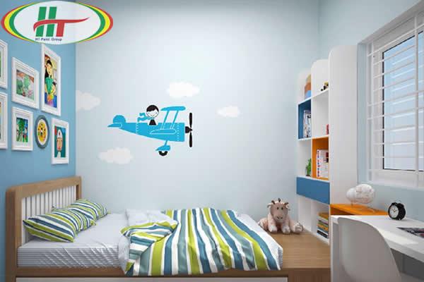 Xu hướng màu sơn đẹp cho phòng bé trai năm 2020