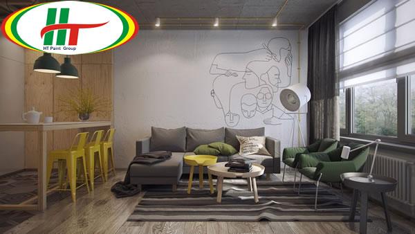 Gợi ý trang trí nội thất phòng khách đặt liền kề phòng ăn