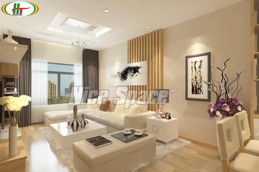 Thiết kế nội thất sử dụng màu be