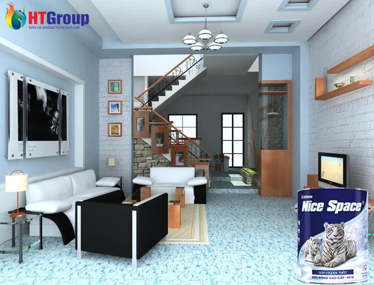 Màu sơn nội thất cho gia chủ mệnh thủy