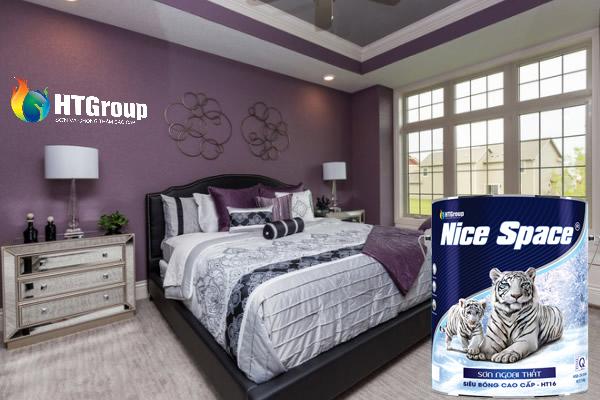 Sử dụng màu mận và màu tím tạo ấn tượng cho phòng ngủ