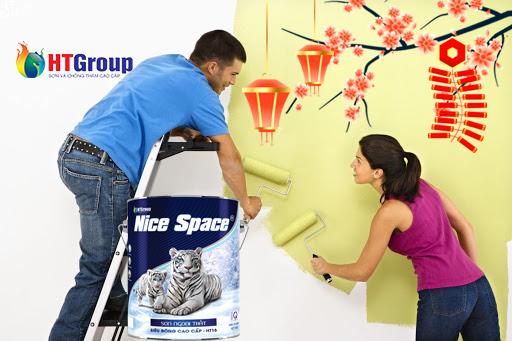 Chào đón tết trọn vẹn niềm vui với màu sơn tường