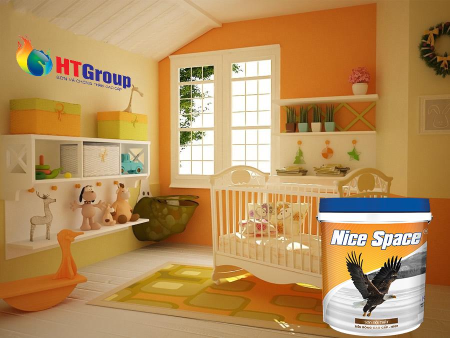 Gợi ý gam màu sơn nội thất đẹp cho phòng bé