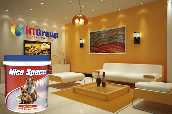 Sơn màu táo bạo tạo không gian phòng khách ấn tượng